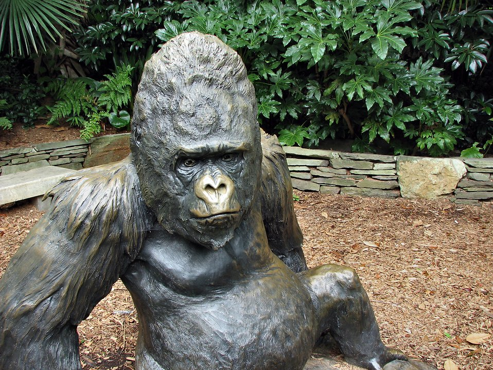 Gorilla statue : Free Stock Photo
