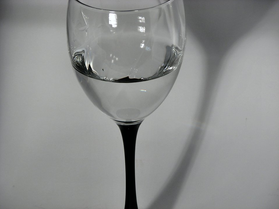 Closeup of a glass of water.