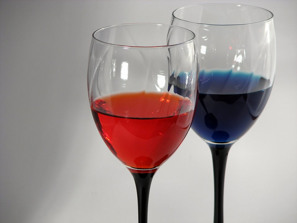 Glasses   Free Stock Photo   Colored wine glasses   # 289