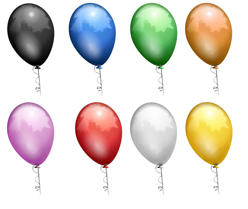 clip art balloons and confetti. Colored allons clip art.