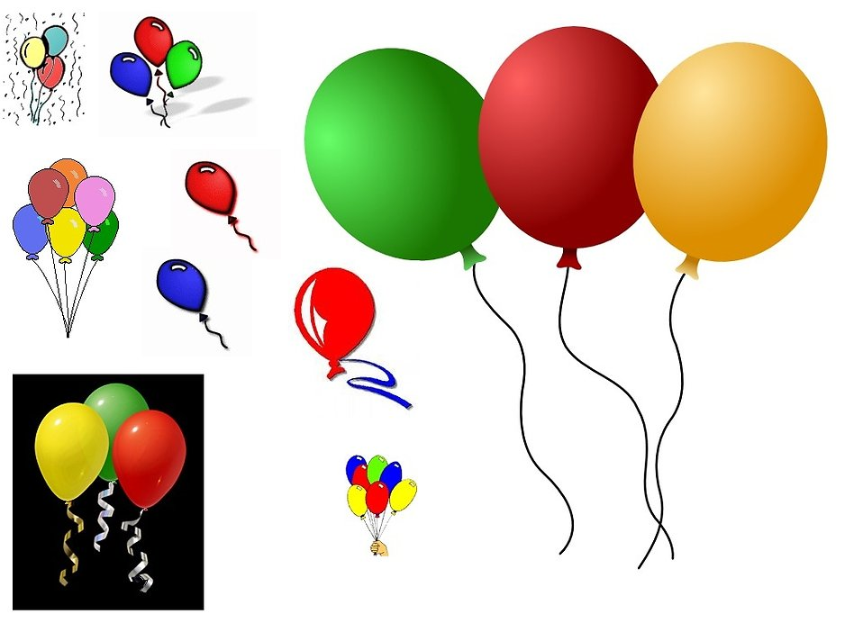 Various balloons : Free Stock Photo
