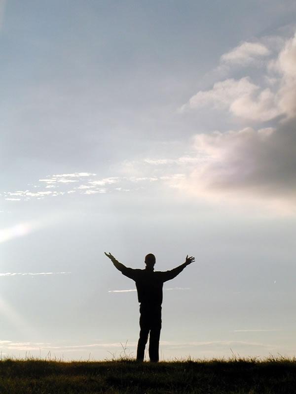 Man reaching the sky : Free Stock Photo