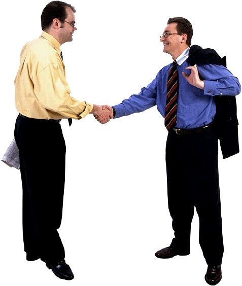 Businessmen shaking hands : Free Stock Photo
