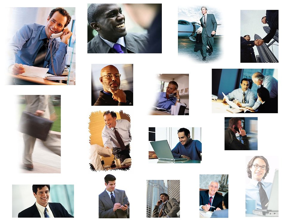 Collection of business men : Free Stock Photo