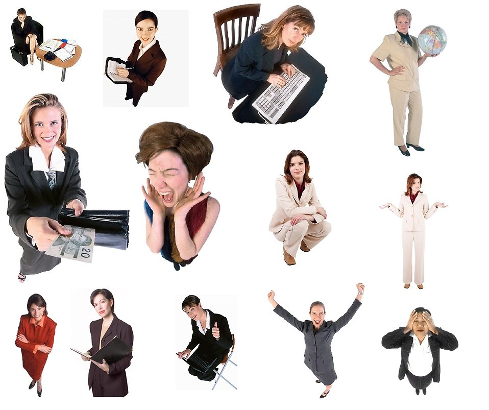 Collection of business women white background : Free Stock Photo