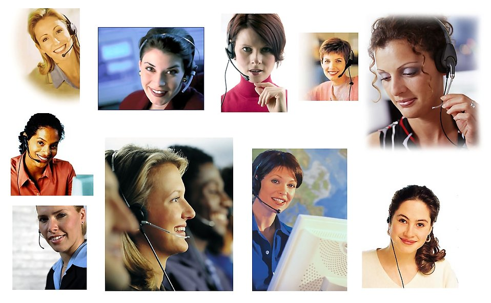 Various call center women : Free Stock Photo