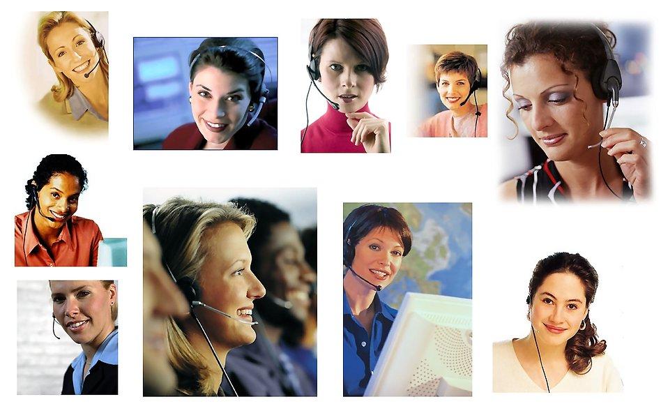 Various call center women : Free Stock Photo