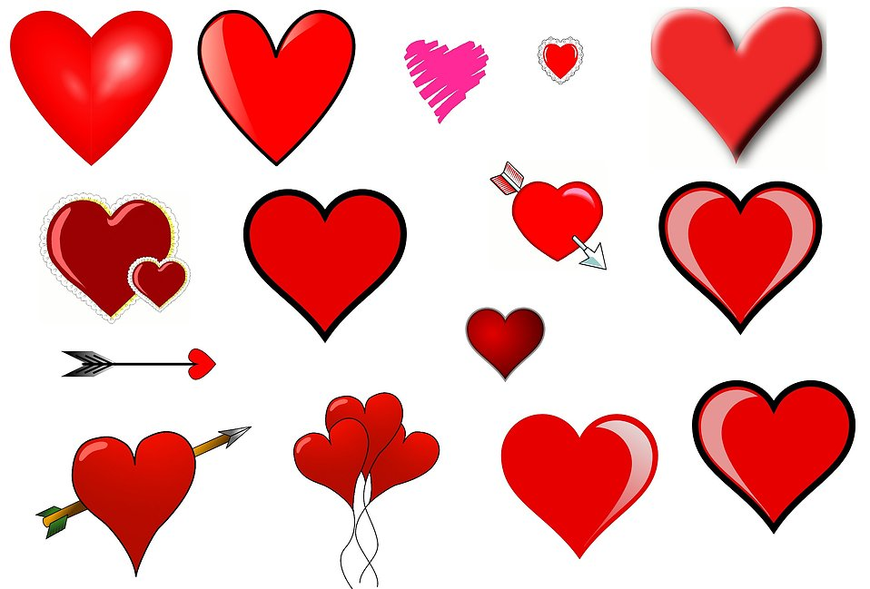 Clip art hearts : Free Stock Photo