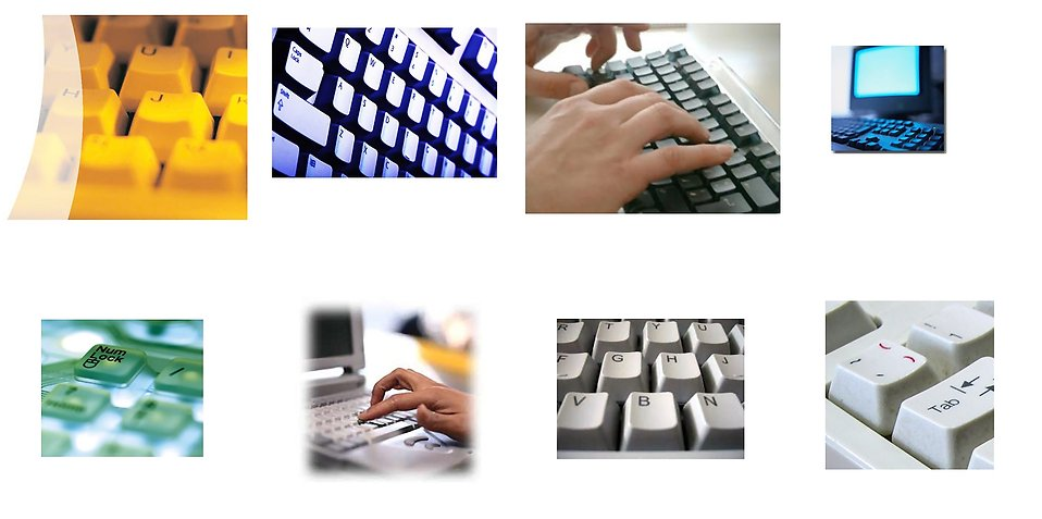 Various computer keyboards : Free Stock Photo