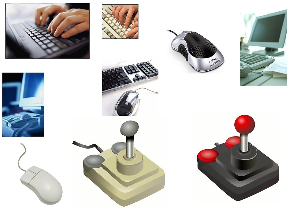 Various keyboards, mice and joysticks : Free Stock Photo