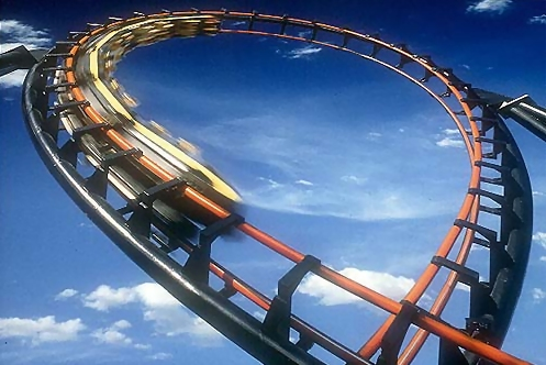 Roller coaster loop : Free Stock Photo