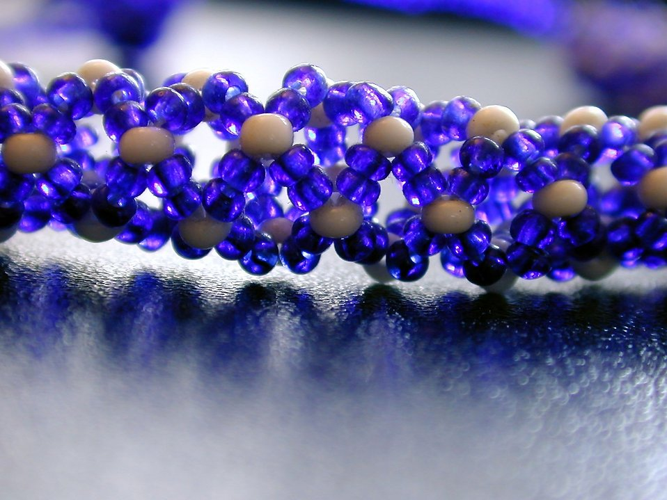 Bright blue beads : Free Stock Photo