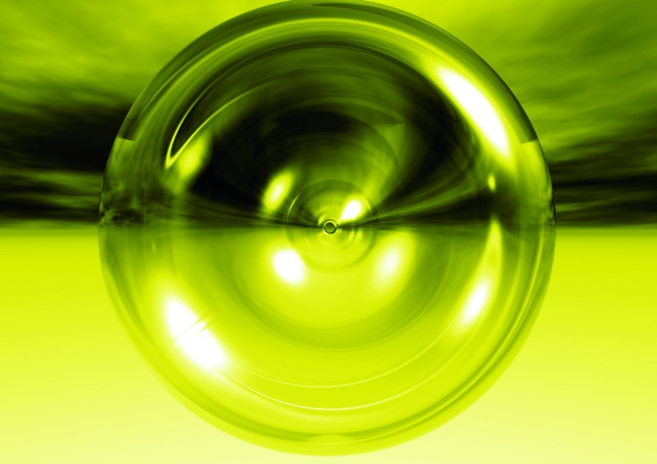 A green circle : Free Stock Photo