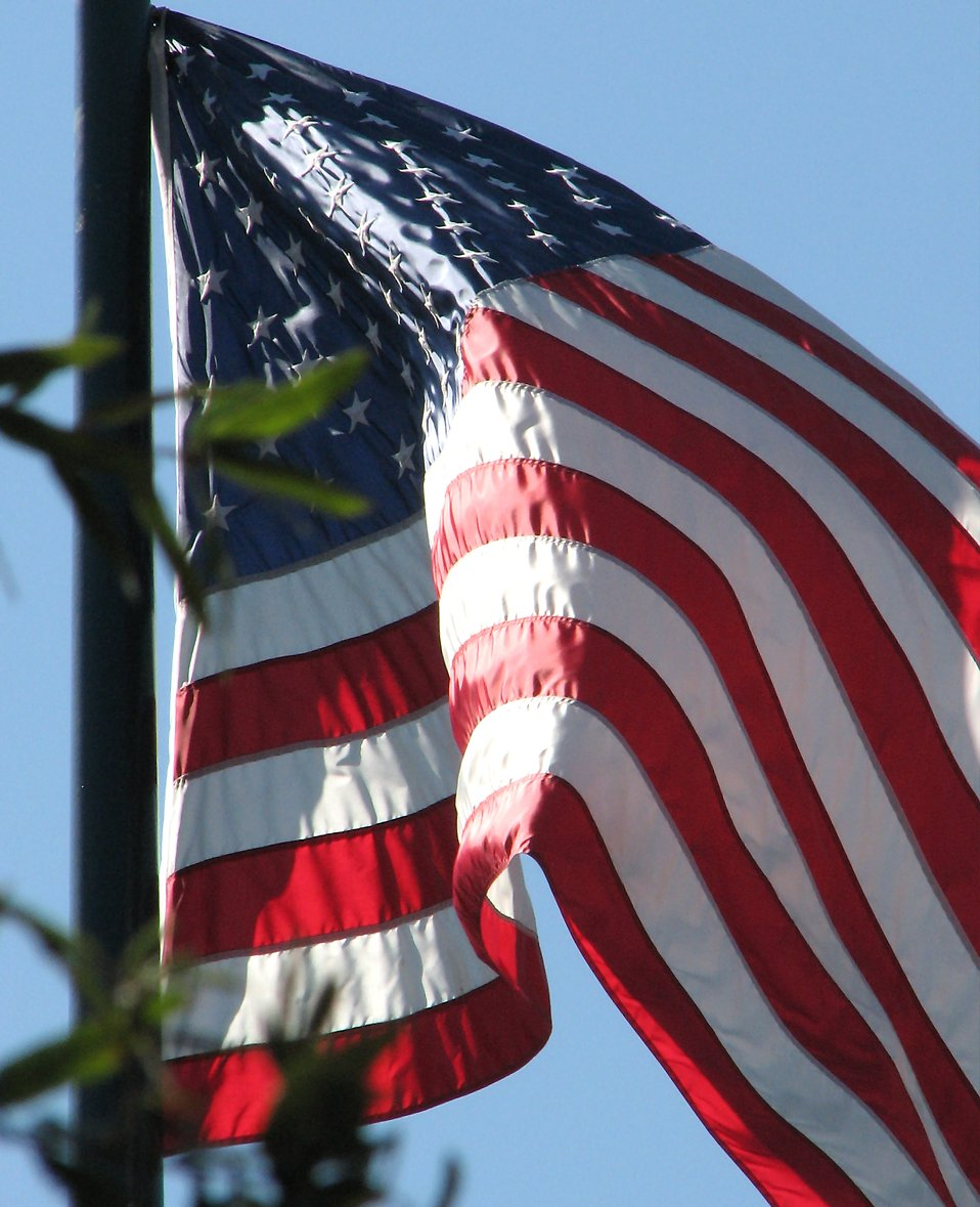 US flag closeup : Free Stock Photo