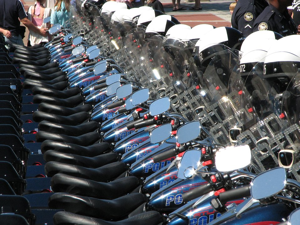police motorcycles : Free Stock Photo