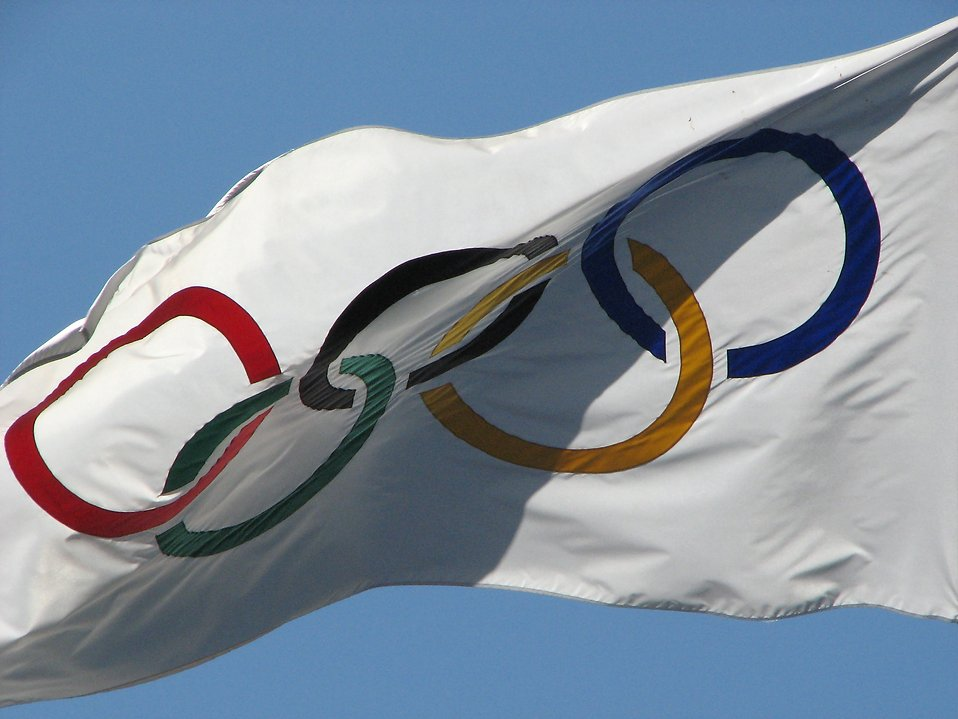 Olympic flag : Free Stock Photo