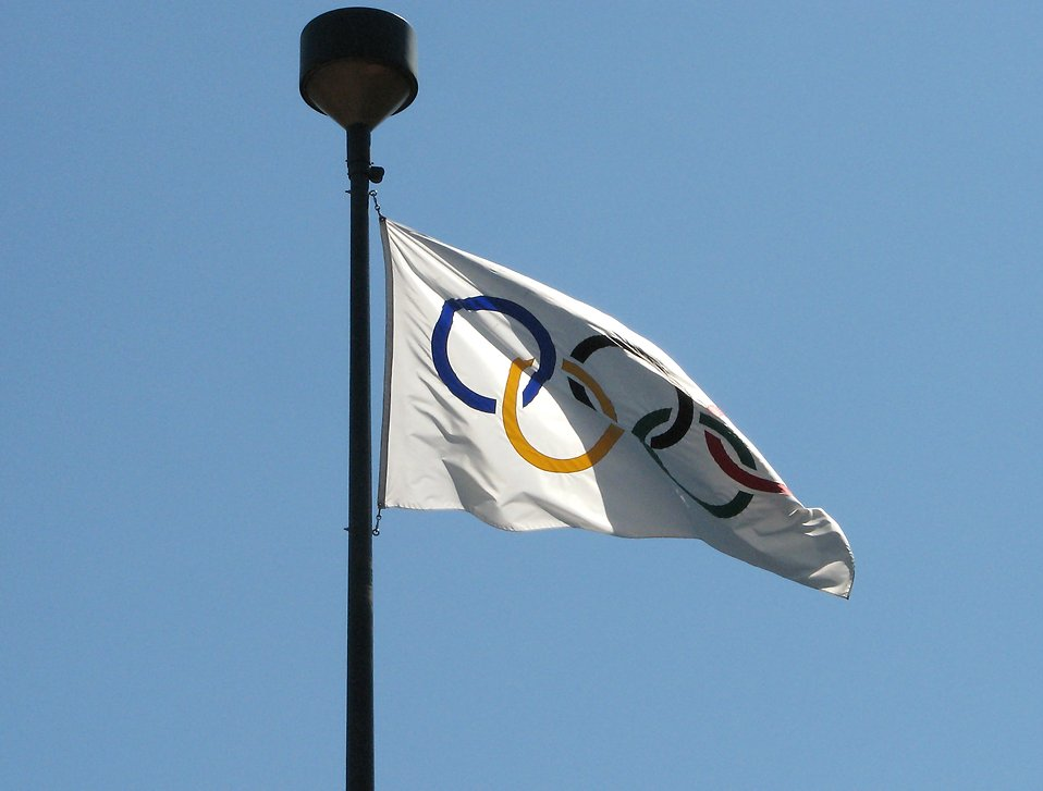 Olympic flag : Free Stock Photo