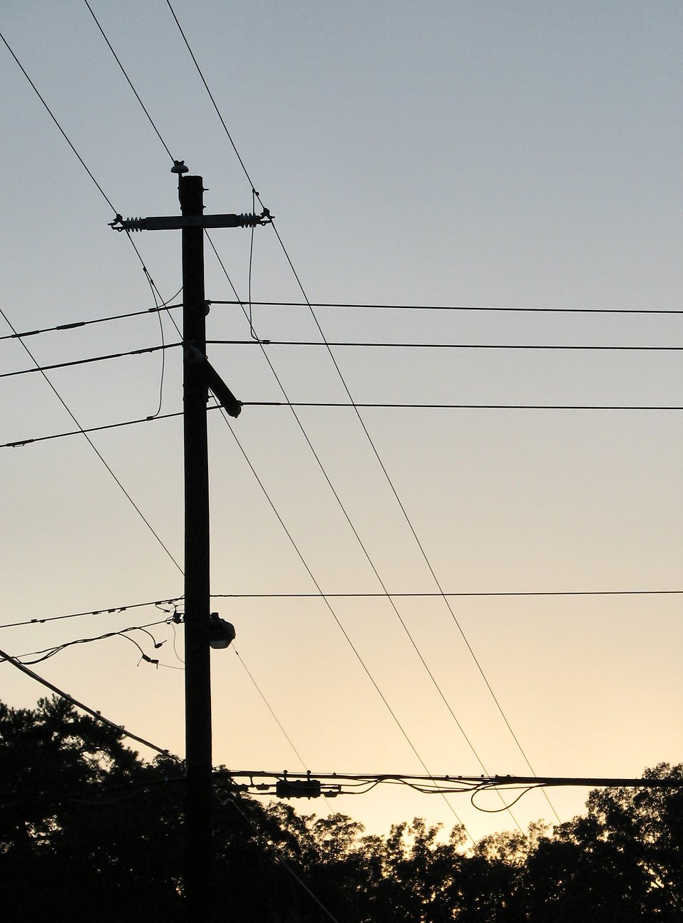 Power lines at sunset : Free Stock Photo