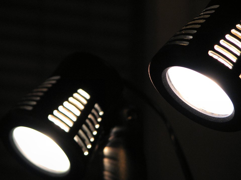 Two mini spotlights. : Free Stock Photo
