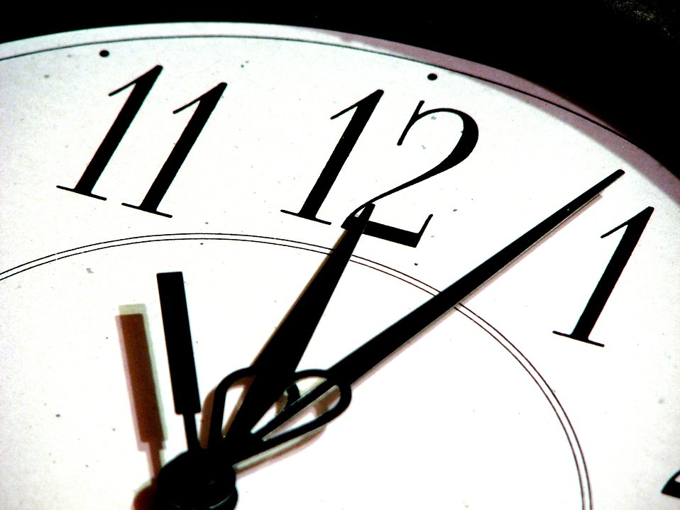 Closeup of a clock : Free Stock Photo