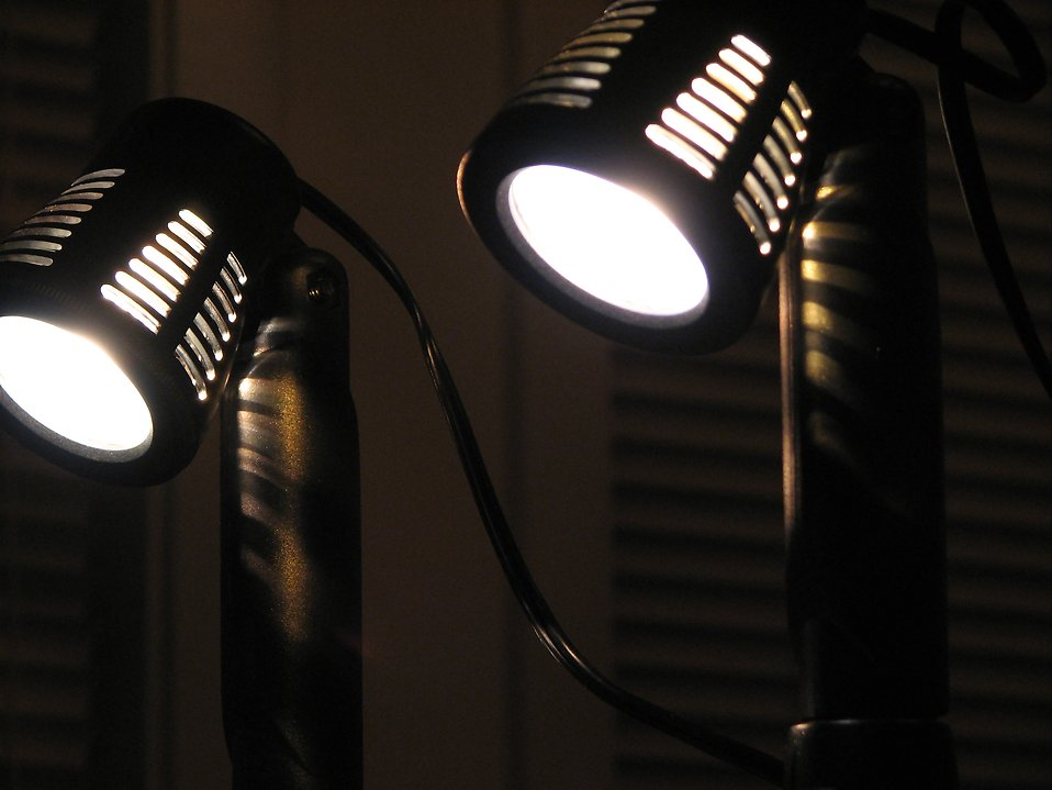 Closeup of mini spotlights : Free Stock Photo