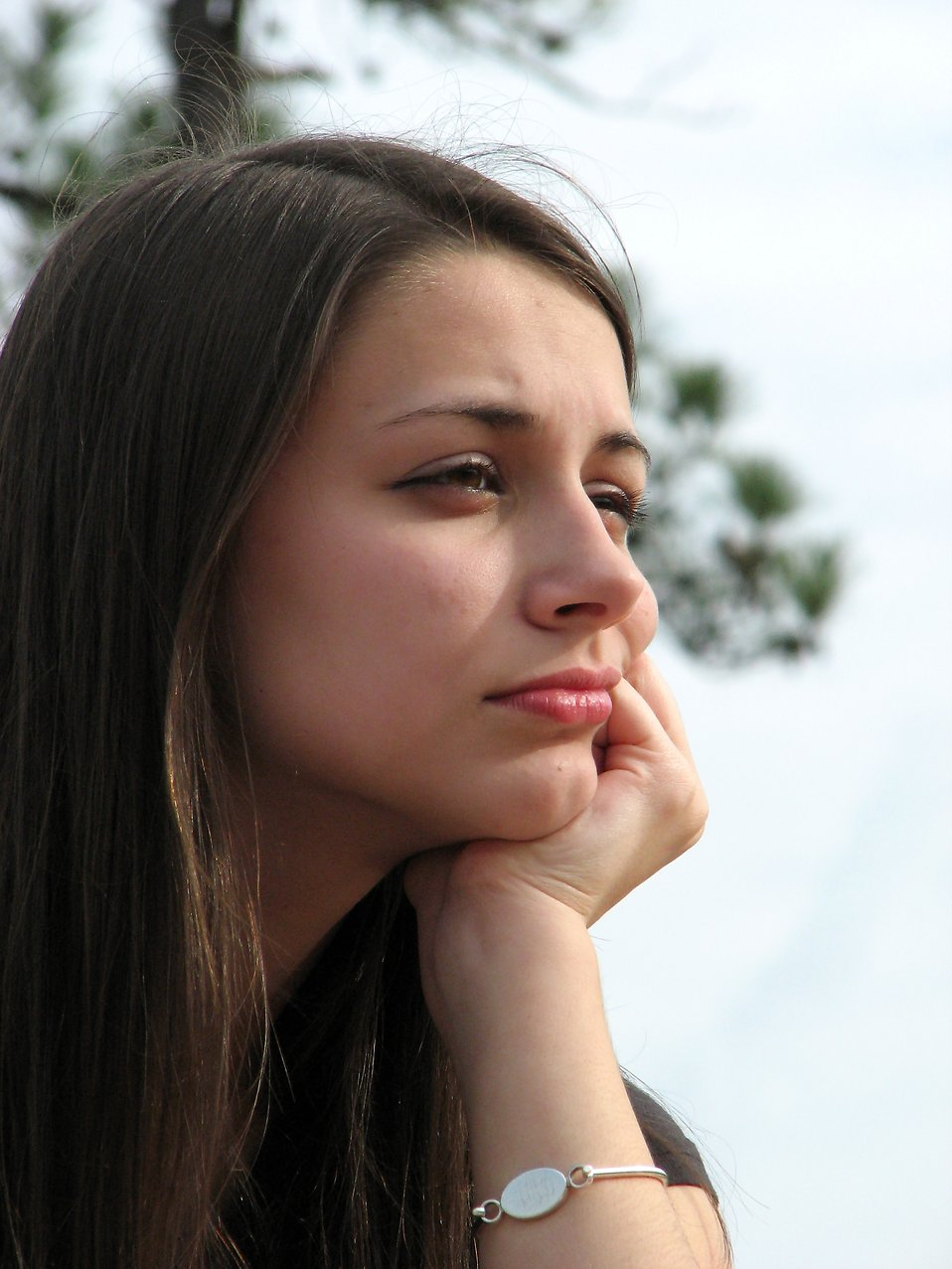 Closeup portrait of a teenage girl : Free Stock Photo