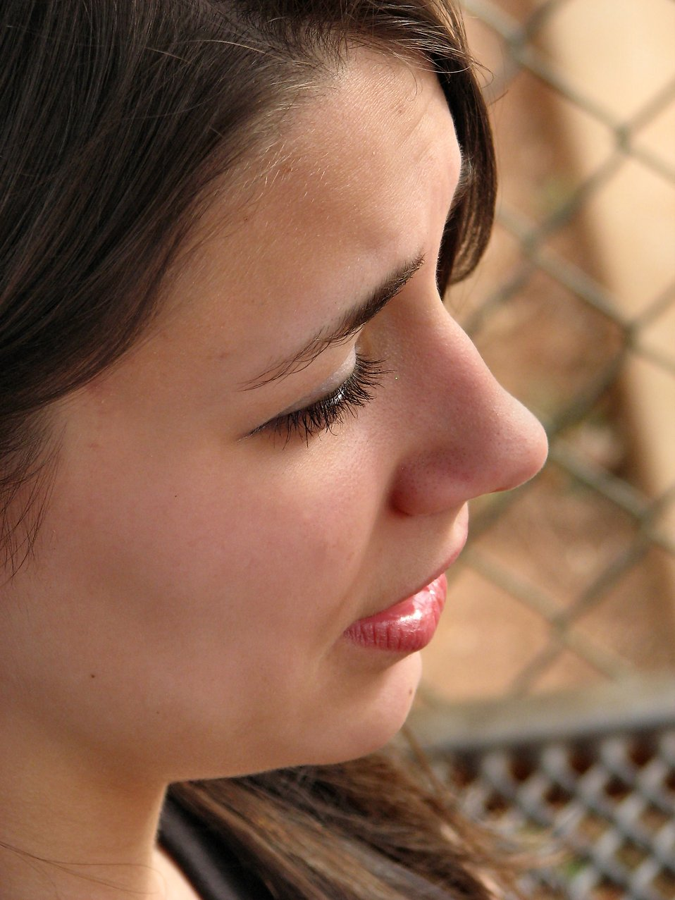 Closeup of a teen girl's face : Free Stock Photo