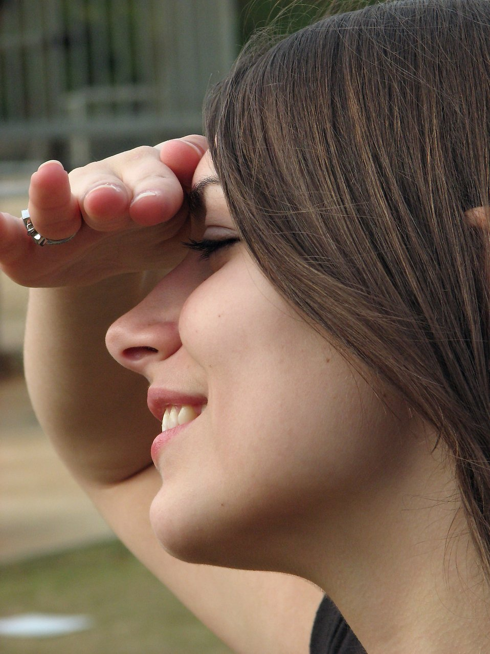 Closeup of a teen girl looking off into the distance : Free Stock Photo
