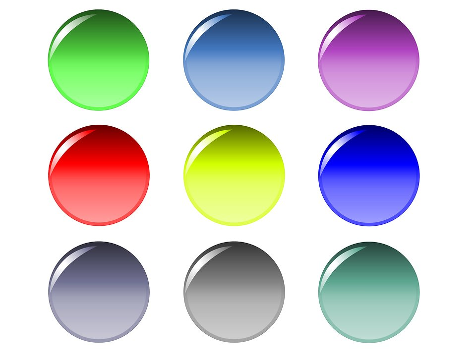 Blank round buttons : Free Stock Photo