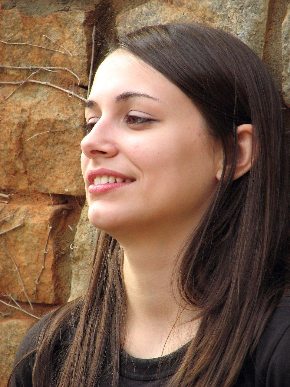 Closeup outdoor portrait of a teen girl : Free Stock Photo