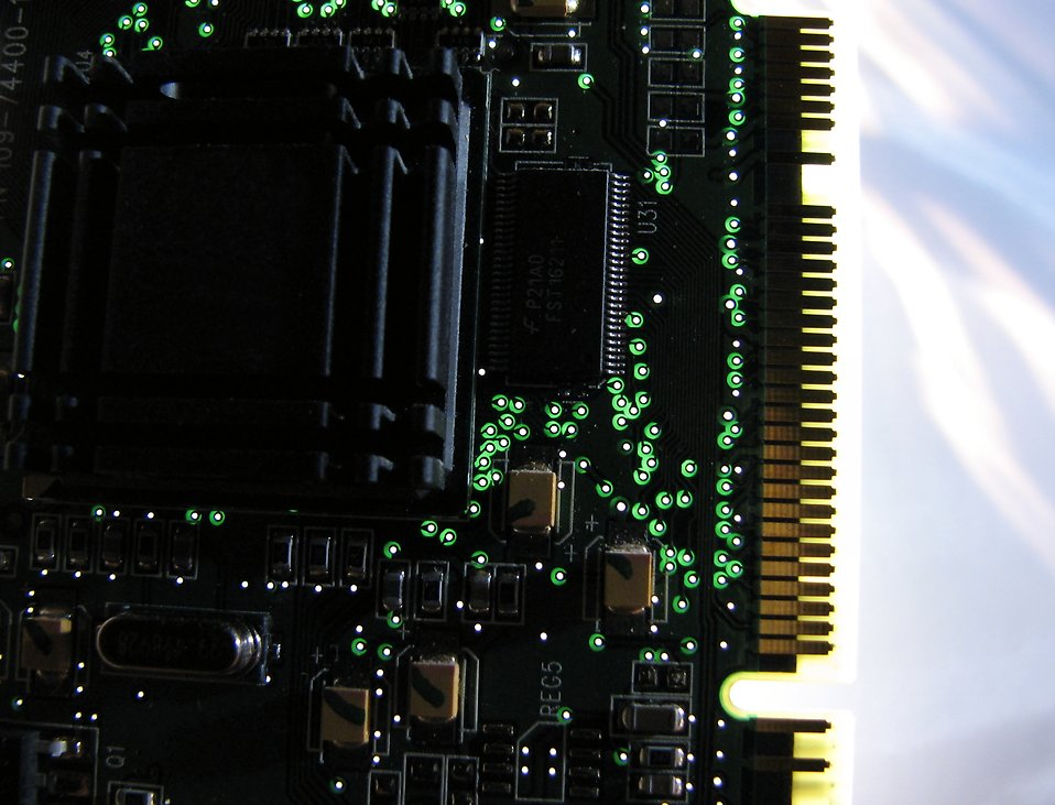Closeup of a computer video card : Free Stock Photo