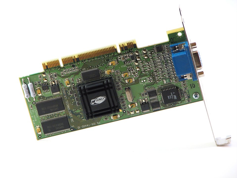 Isolated computer video card : Free Stock Photo