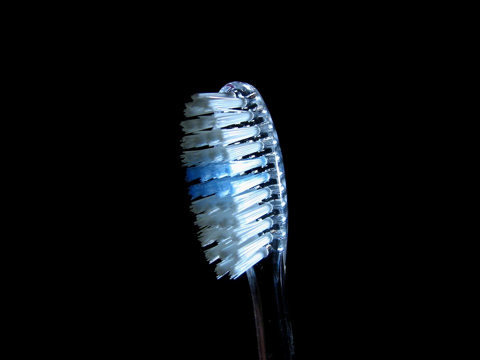 Closeup of a toothbrush : Free Stock Photo