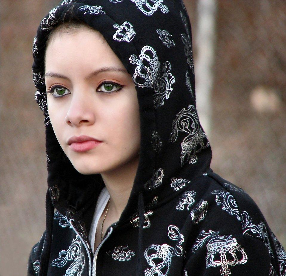 Closeup portrait of a teen girl : Free Stock Photo