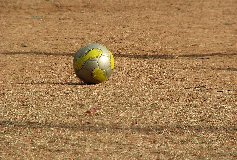A soccer ball in a field : Free Stock Photo