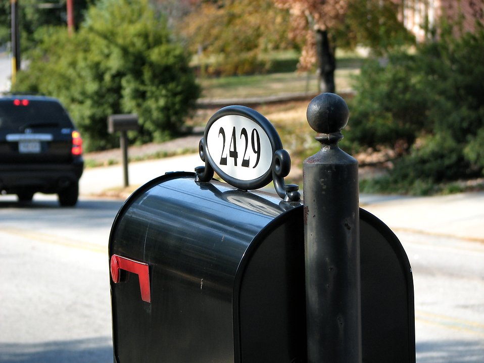 A mailbox on a street : Free Stock Photo