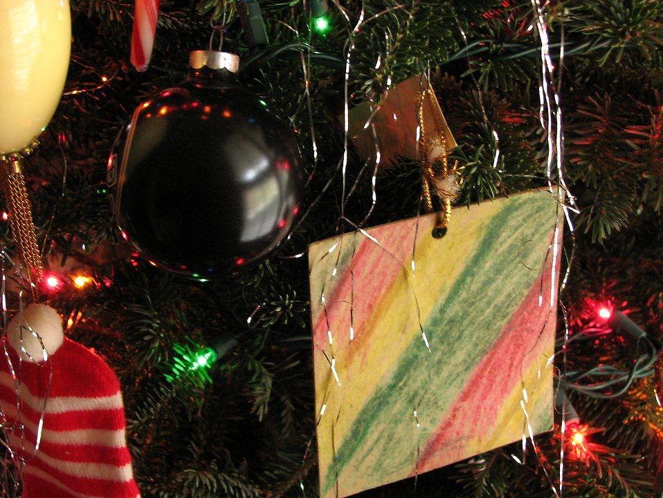 Closeup of a Christmas tree : Free Stock Photo