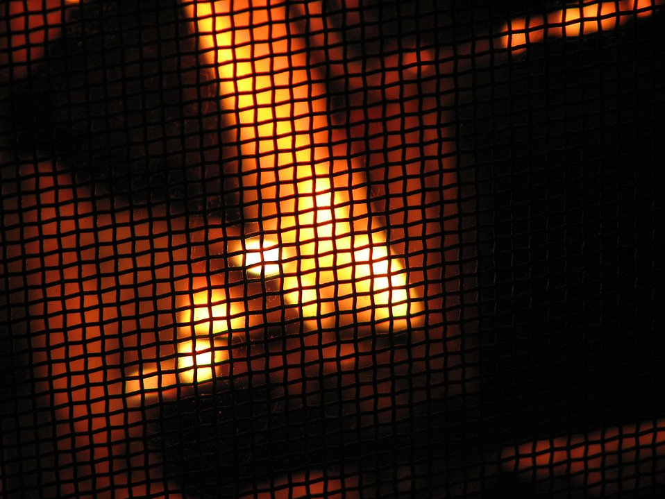 Closeup of a fire in a fireplace : Free Stock Photo