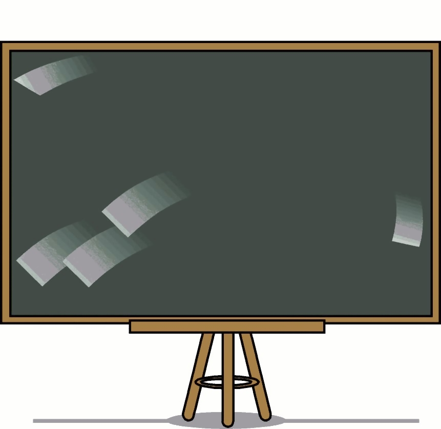 Blank blackboard illustration : Free Stock Photo