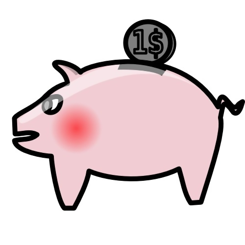 Piggy bank illustration : Free Stock Photo