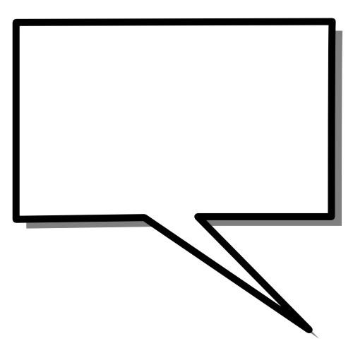 Blank cartoon bubble : Free Stock Photo