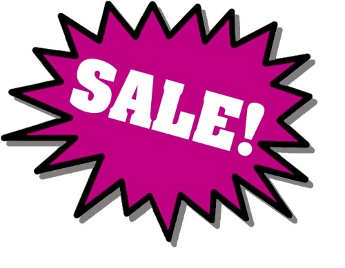 Purple sale stickers : Free Stock Photo