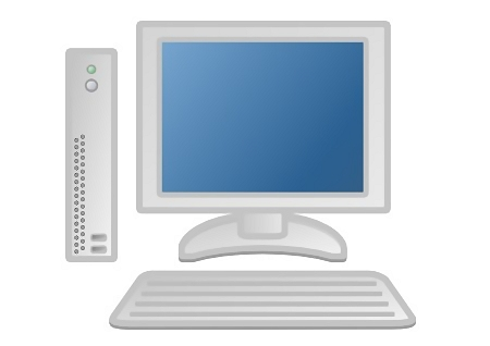 Free Stock Photo: Illustration of a computer with a blue screen.