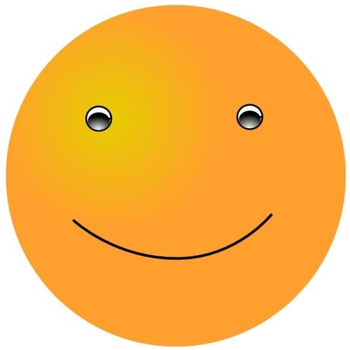 Orange smiley face : Free Stock Photo