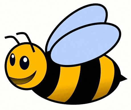Cartoon bee illustration : Free Stock Photo