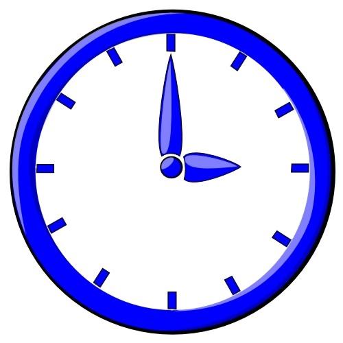 Blue clock illustration : Free Stock Photo