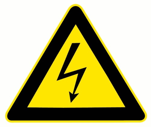 Electrical warning illustration : Free Stock Photo