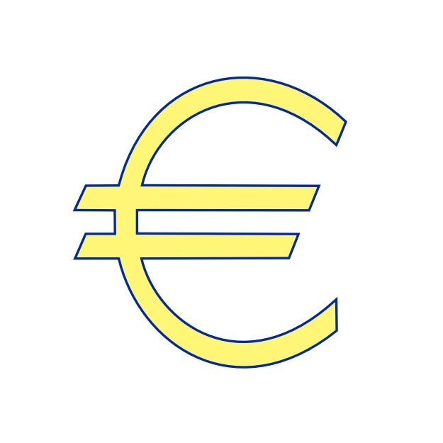 Yellow Euro illustration : Free Stock Photo