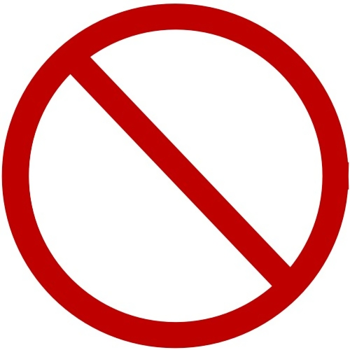 Blank forbidden illustration : Free Stock Photo
