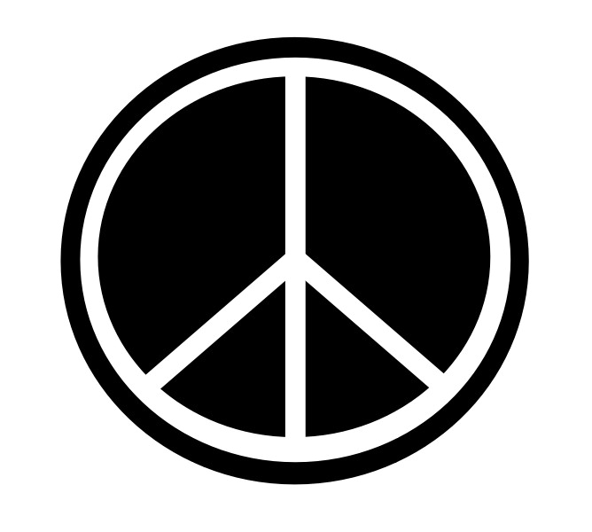 Illustration of a peace symbol.